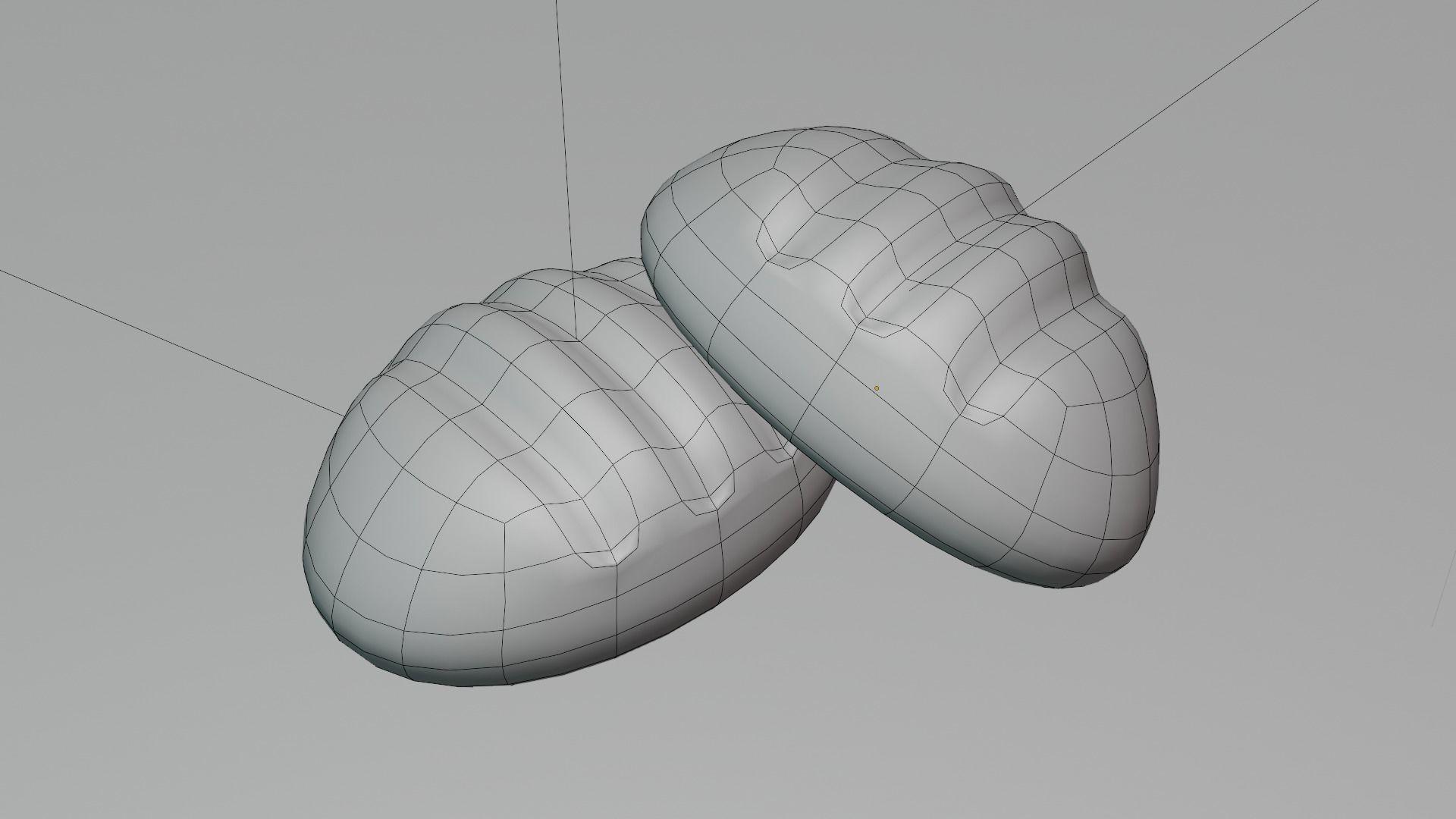 次世代材质低模小面包3D模型