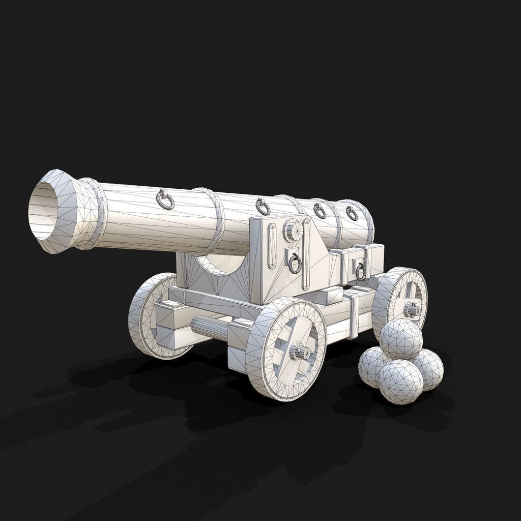 次世代材质大炮3D模型