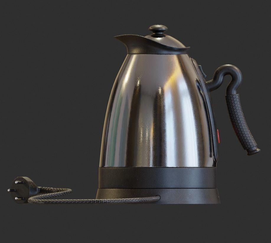 钢质电热水壶3D模型