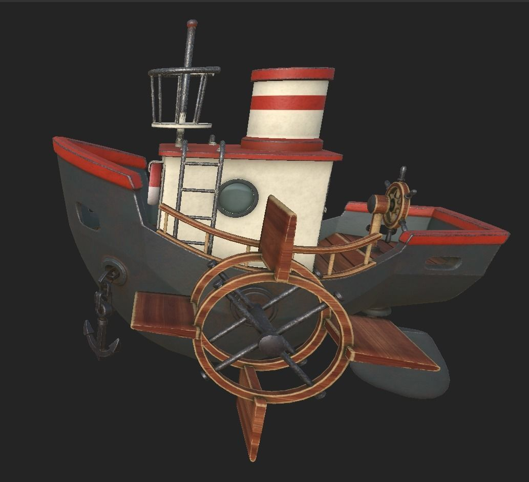 卡通轮船3D模型